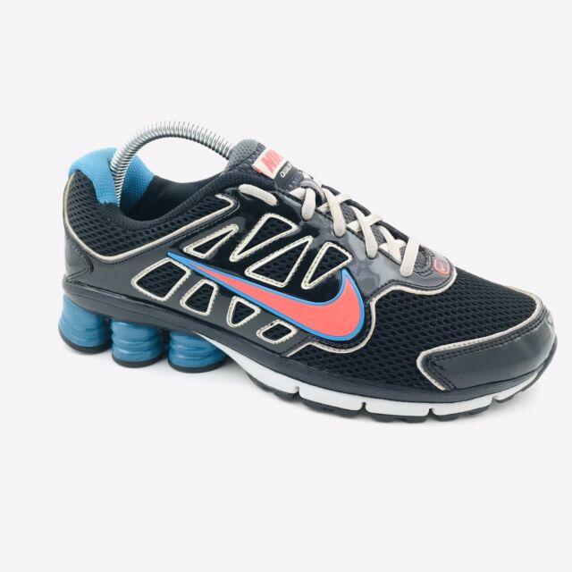 Nike Shox Qualify 2 Women's Running Shoes Size 8 In EUC Black Pink Aqua
