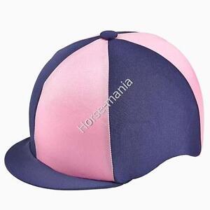 0f604e5fadc NAVY   LIGHT PINK CAPZ RIDING HAT SILK COVER FOR JOCKEY SKULL CAPS ...