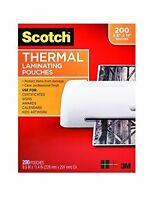Scotch Thermal Laminating Pouches 8.9 X 11.4 Inches 3 Mil, 200-pack (tp3854-200) on sale