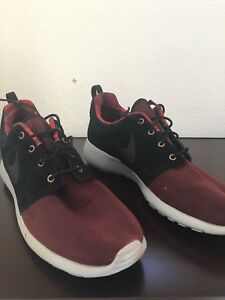 7a7ed58383d7 NIKE ROSHE ONE PREMIUM NIGHT MAROON BLACK WOLF GREY 525234 602 MEN S ...