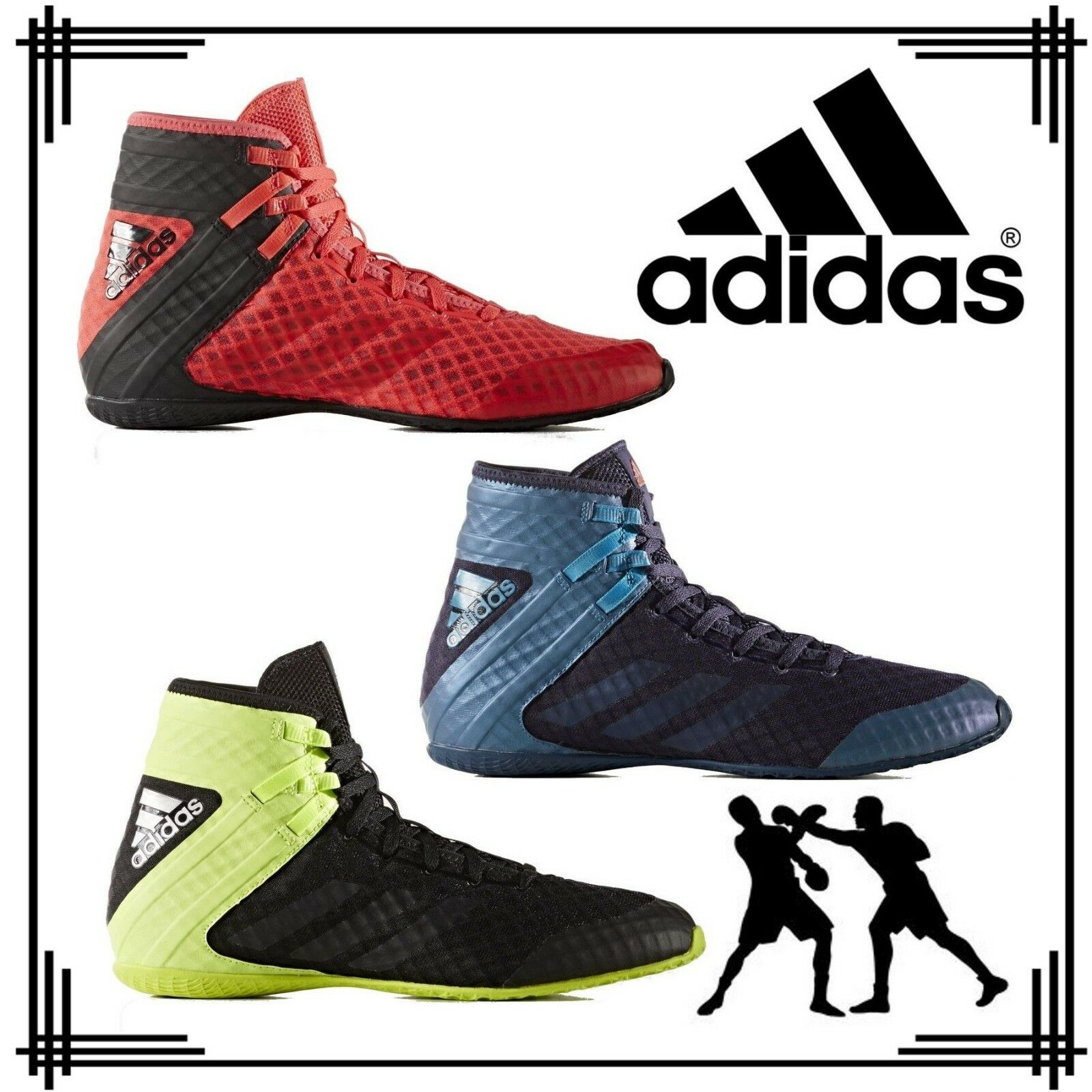 adidas Speedex 16.1 hommes Boys Lace Up Boxing Bottes Sports Retro Style Trainers
