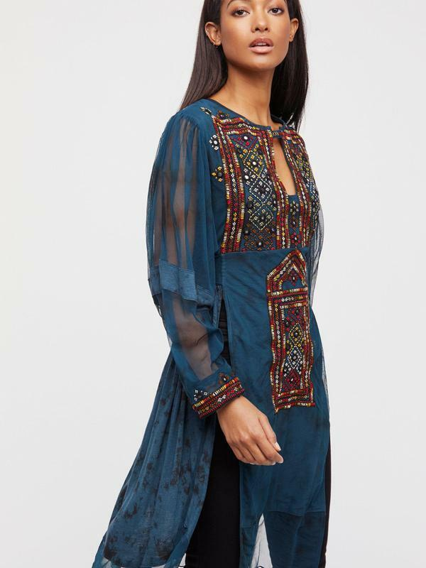 Free People NWT Größe XS Market Place Embroiderot Maxi Top NEW