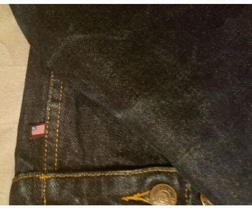 Jean Taille Original Lauren Usa Ralph Vintage Veste Femmes Polo Drapeau En L Denim wPq0qgE