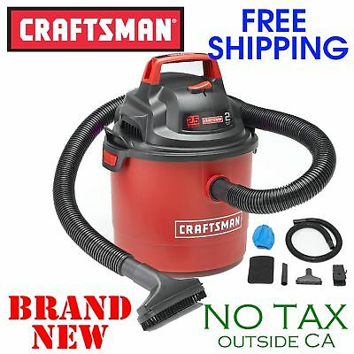 New Craftsman Portable Wall Mount 2 5gal Gallon Wet Dry