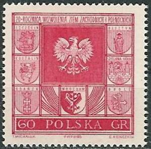 Poland stamps MNH (Mi. 1583) North - West territorium - Bystra Slaska, Polska - Poland stamps MNH (Mi. 1583) North - West territorium - Bystra Slaska, Polska