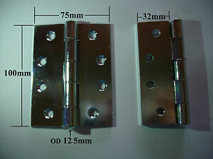 Trailers-Toolboxes-Gate-HINGES-100mm-Fence-Butt-Hinges-Pair-Zinc