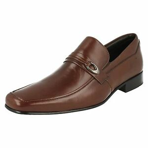 Mens Anatomic Prime Goiania Chocolate Brown Leather Smart Slip On Shoes