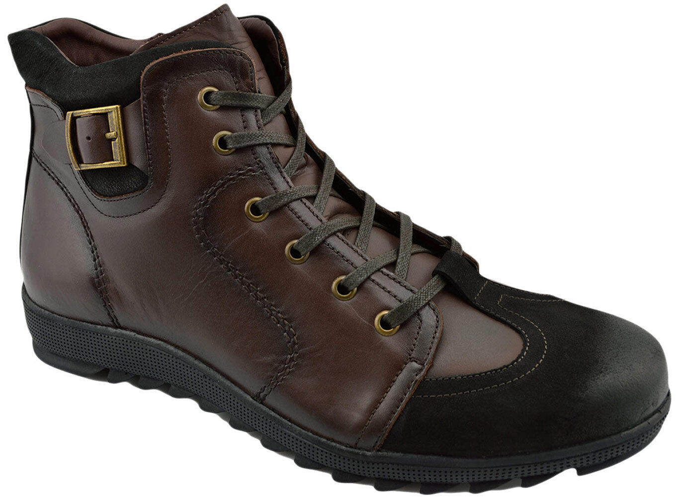 230 OVATTO Brown 2 Tone Calf Pelle Ankle Stivali Uomo Shoes NEW COLLECTION