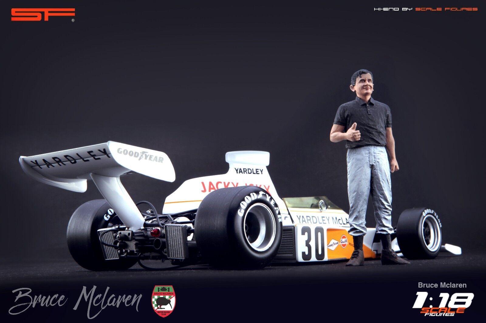 1 18 Bruce McLaren FIGURINA MOLTO RARO    Nessun auto    PER AUTO DIECAST