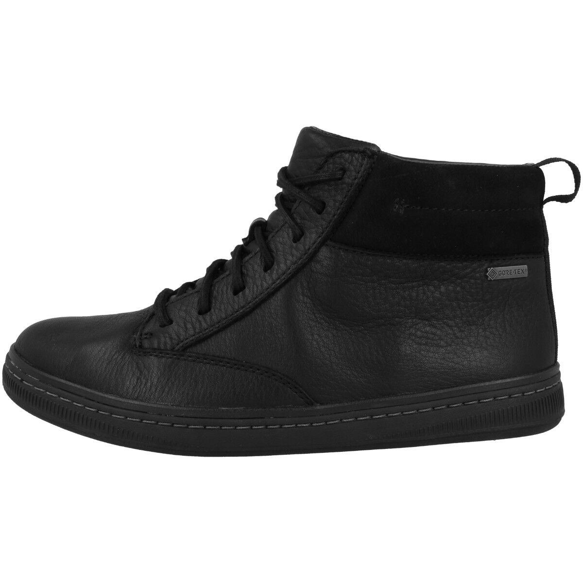 Clarks Norsen Mid GTX shoes men Top Alto shoes con Lacci pelle Nera 26136200