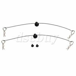 2X-Black-RC1-10-Car-Body-Clip-Pins-Stealth-Wire-15-5cm-Length-Retainers