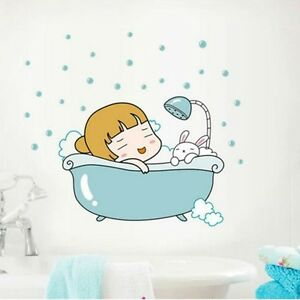 Baby Bunny Bath Wall Sticker