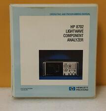 Hp 08702 90002 8702 Lightwave Component Analyzer Operatingprogramming Manual