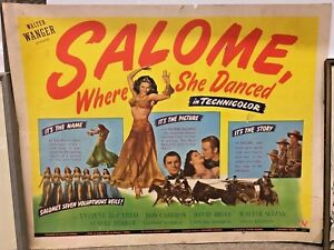 SALOME-WHERE-SHE-DANCED-1945-ORIGINAL-THEATER-LOBBY-HALF-SHEET-FILM-POSTER-22X28