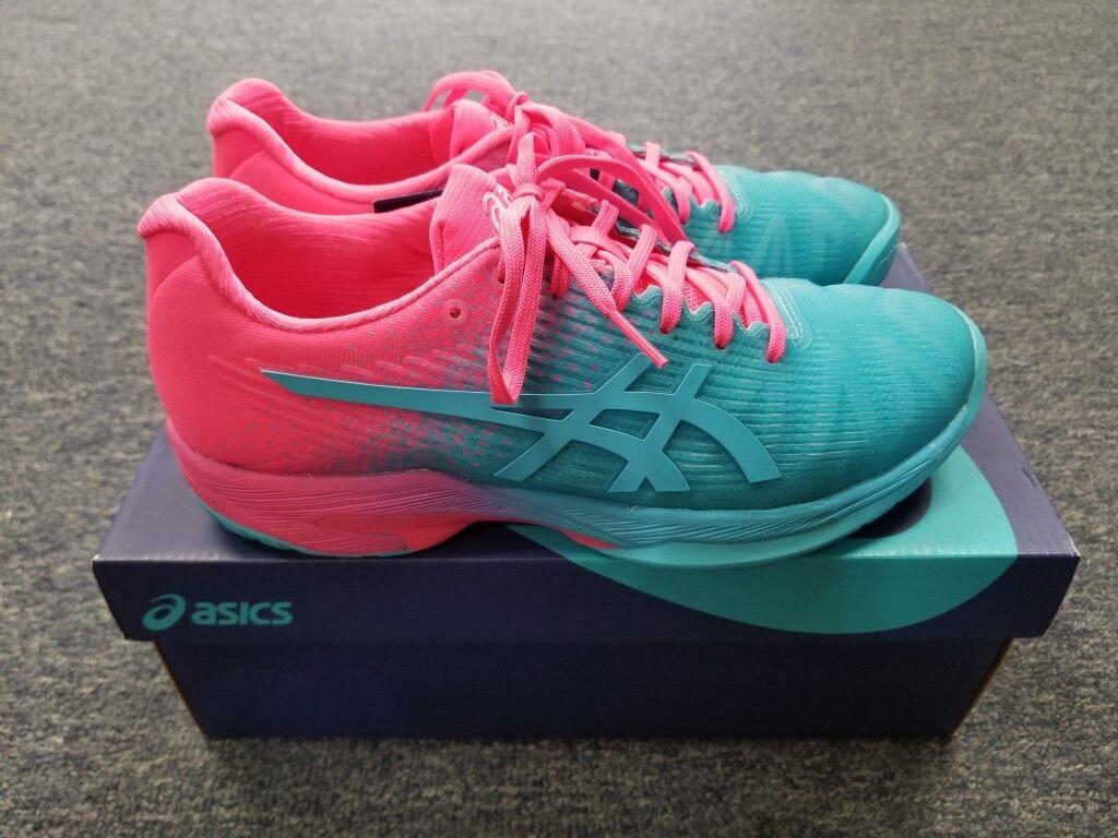 bdc8d971ba57b5 Women s Asics Solution FF Tennis shoes Aquarium Hot Pink Size 6 Speed L.E.  ngtube1230-Athletic Shoes