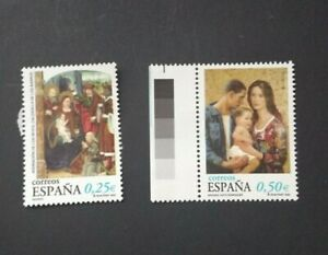 España año 2002 NAVIDAD Nº 3955 y 3956 MNH