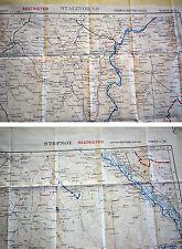 Fliegerkarte Silk Map von Stalingrad und Stepnoy (Russland) 1:1.000.000