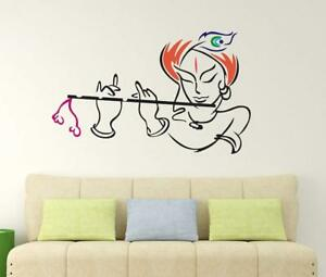 18c0ee0205 Lord Krishna Wall Sticker Art Vinyl Decal Mural For Home Room Decor ...