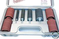 20 Piece Rubber Sanding Drum Set W/ Case - Kaufhof Sd-20 (rep. Big Horn 19521)