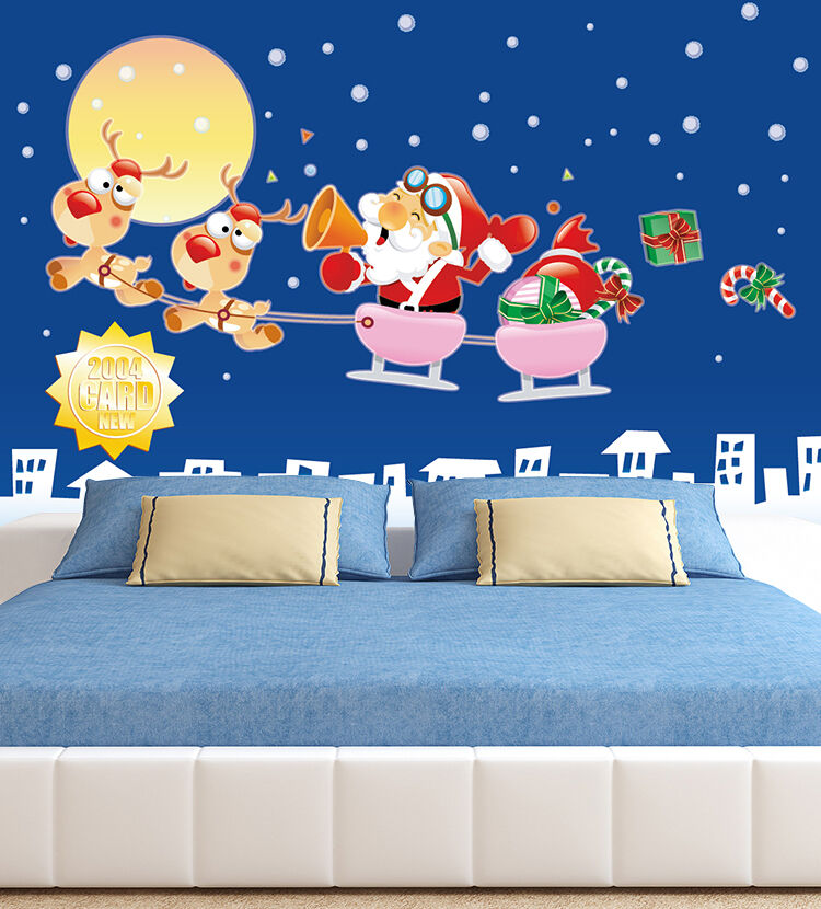 3D Funny Santa 4665 Wall Paper Wall Print Decal Wall Indoor wall Murals