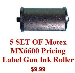 5-SET-OF-Motex-MX6600-Pricing-Label-Gun-Ink-Roller-all-brand-new-and-fresh-18mm