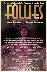 """Rare Mint Advertising Flyer (5.5"""" x 8.5"""") """"FOLLIES"""" Papermill Production 1998"""