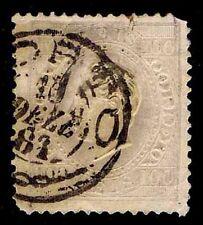 1871 PORTUGAL #45e - 100 REIS - PALE LILAC - USED - VF - CV$12.00 (ESP#1909)