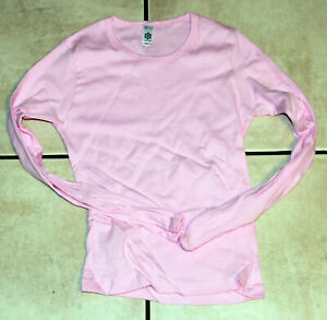 Pink-Long-Sleeved-Juniors-Ladies-T-Shirt-Medium-OSFA