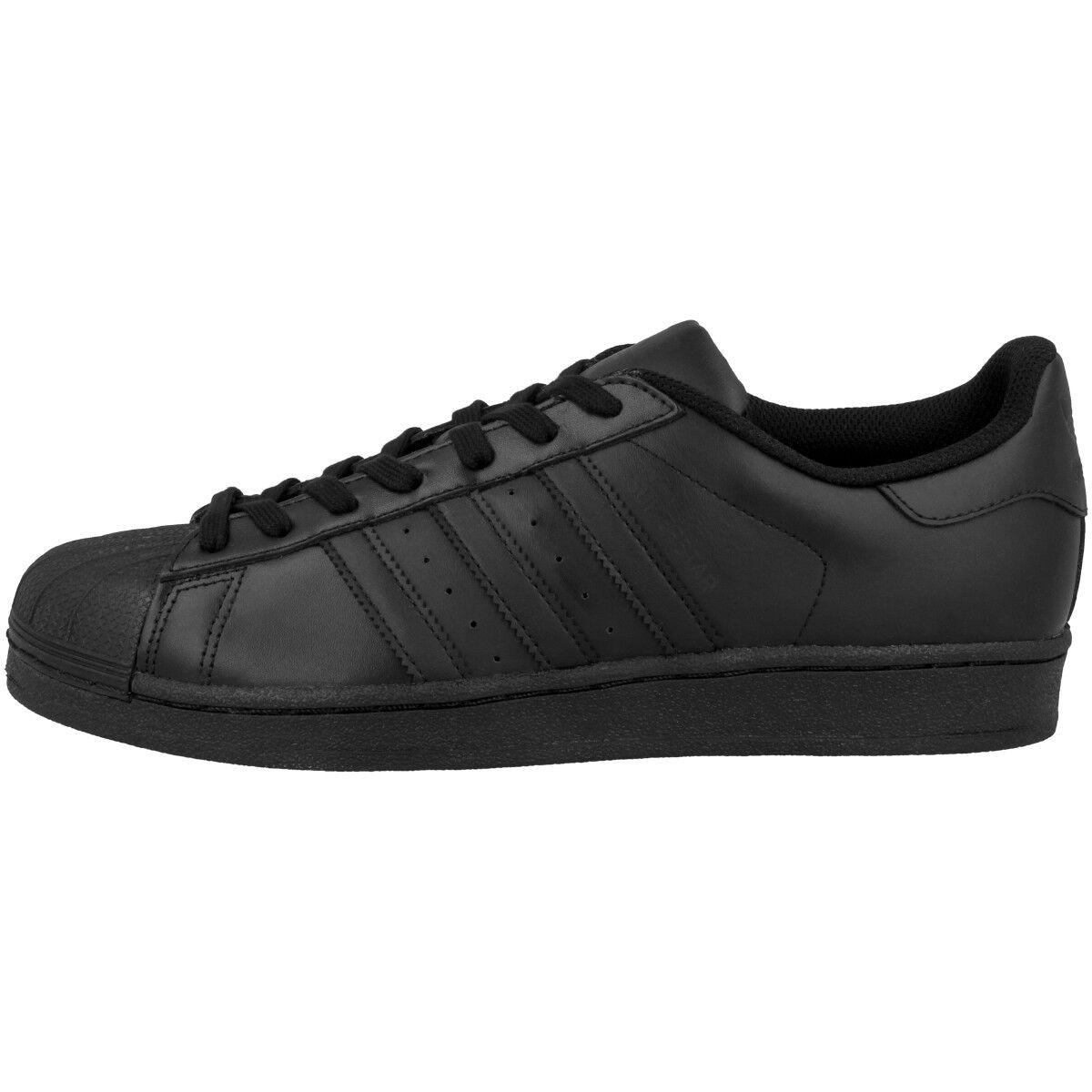 Adidas Superstar Foundation Schuhe Retro Klassiker Sneaker black 80s Flux AF5666