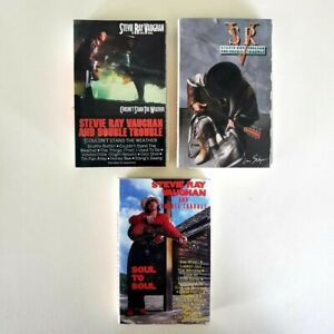 Stevie Ray Vaughan and Double Trouble - Lot of 3 Cassettes - In Step - Soul