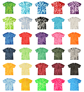 Tie-Dye-Tonal-T-Shirts-Adult-Sizes-S-5XL-Unisex-100-Cotton-Colortone-Gildan