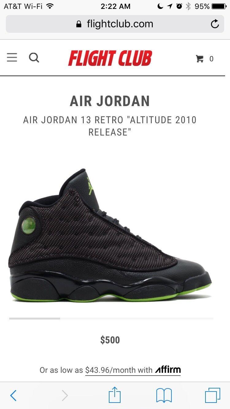 e225f347d2fef3 ... 2010 Release Nike Jordan Retro Retro Retro Altitude 13 100% Authentic  Size 9.5 VNDS Worn ...