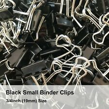 Black Small Binder Clips 34 Inch 19mm Small Metal Clamp Black Paper Clips