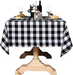 Bettery Home Buffalo Check Christmas Tablecloth Cotton Linen Plaid Table Cloth F Ebay
