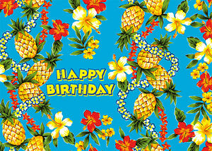 4 greeting cards hawaiian happy birthday pineapple express ebay image is loading 4 greeting cards hawaiian happy birthday pineapple express m4hsunfo