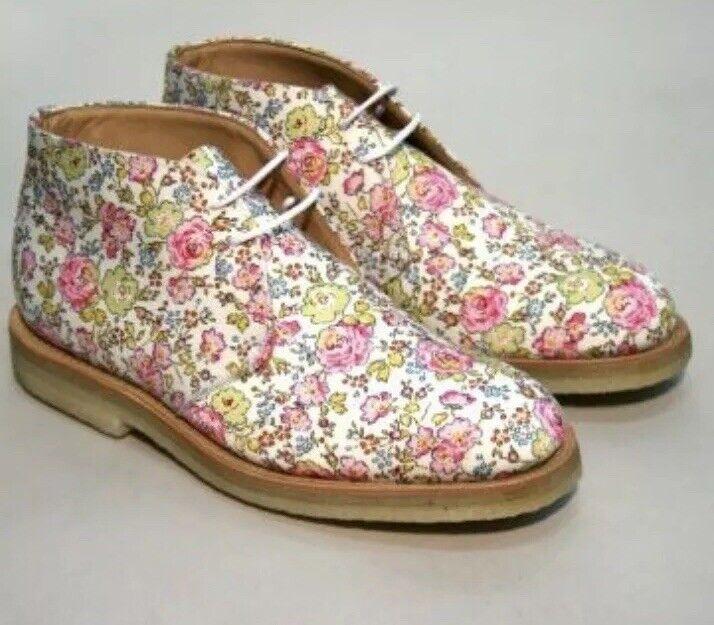 barato y de alta calidad Mark Mcnairy Nueva Amsterdam Floral Print Chukka botas botas botas auténtico UK5 US7 PVP  buena calidad