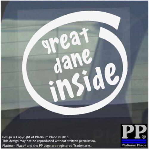1 x Great Dane Inside-Internal Sticker-Car,Van,Adhesive,Dog,Pet,Mastiff,Animal