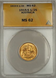 1915-S-Australia-1-2-Half-Sovereign-Gold-Coin-ANACS-MS-62