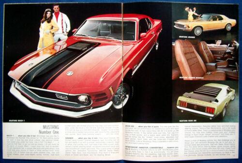 USA Mustang Thunderbird Torino Prospectus brochure 1970 FORD Buyers Digest