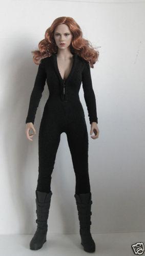 "Female Clothes Black Women 1//6 Slim tight stretch leotard F 12/"" Action Figure"