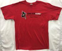 Lids Men's Short Sleeve T-shirt, Texas Tech Alumni Assoc, 2xl, Red