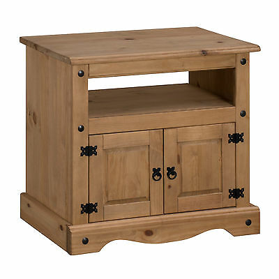 Corona Straight TV Unit Media Cabinet Stand Mexican Pine by Mercers Furniture®