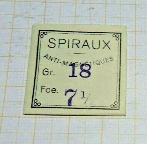 Unruhspiralen,neuwertig 18``` 7 1//2 12 Stück,ältere Lagerware.