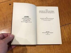 The-American-Revolution-A-constitutional-interpretation-C-McIlwain-Antique-1924