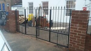 10 Foot Bi Folding Gate Drive Gate Metal Iron Gate