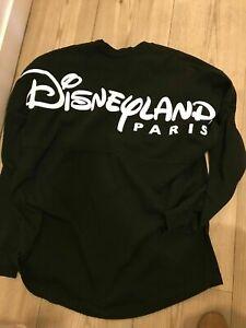 Sweatshirt-Spirit-Jersey-noir-black-Disneyland-Paris-Taille-L-STOCK-LIMITE