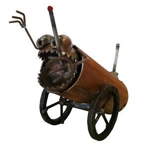 Sugarpost Gnome Be Gone Mini Desk Cannon Welded Metal Art