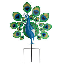 Peacock Lawn Stake Decoration Metal Yard Art Outdoor Garden Planter Bird  Decor B