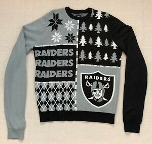 Details about Oakland Raiders Men's Large L NFL Team Apparel Xmas Ugly Christmas Sweater