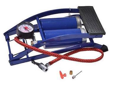 Fußluftpumpe Doppelzylinder Pumpe Luftpumpe Fußpumpe 7 bar Manometer Adapter